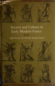Cover of: Society and culture in early modern France | Natalie Zemon Davis