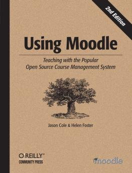 Using Moodle by Jason R. Cole